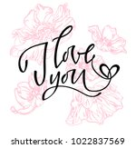 i love you. i heart you.... | Shutterstock .eps vector #1022837569