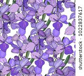 seamless floral pattern with... | Shutterstock .eps vector #1022837617