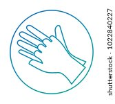 surgical gloves isolated icon | Shutterstock .eps vector #1022840227