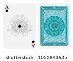 ace of spades face with spades... | Shutterstock .eps vector #1022843635