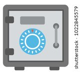 strongbox  bank locker flat icon | Shutterstock .eps vector #1022845579
