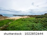 green pasture at the seaside... | Shutterstock . vector #1022852644