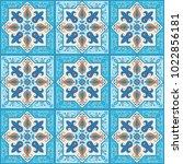 ornamental tile background ... | Shutterstock .eps vector #1022856181