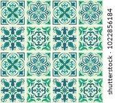 ornamental tile background ...   Shutterstock .eps vector #1022856184