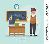 vector illustration with teacher   Shutterstock .eps vector #1022857585