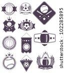 sport emblems | Shutterstock .eps vector #102285895