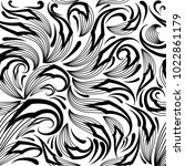paisley black and white... | Shutterstock .eps vector #1022861179