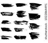 grunge ink brush strokes set.... | Shutterstock .eps vector #1022864491