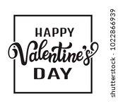 happy valentine' day. hand... | Shutterstock . vector #1022866939