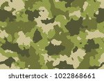 camouflage seamless pattern... | Shutterstock .eps vector #1022868661