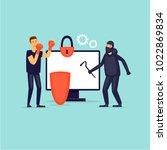 data protection. flat design... | Shutterstock .eps vector #1022869834
