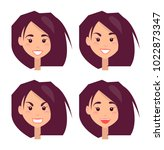 bright portraits of young girl... | Shutterstock .eps vector #1022873347