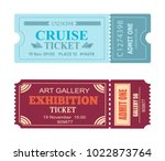 art gallery exhibition cruise... | Shutterstock .eps vector #1022873764