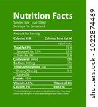 nutrition facts informative... | Shutterstock .eps vector #1022874469