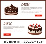 cakes variety delicious...   Shutterstock .eps vector #1022874505