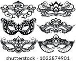 venetian carnival face masks... | Shutterstock .eps vector #1022874901