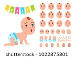 baby constructor with flags ...   Shutterstock .eps vector #1022875801