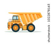 yellow dump truck with big... | Shutterstock .eps vector #1022878165