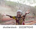 sweet little african boy under... | Shutterstock . vector #1022879245