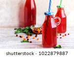 traditional russian drink  ... | Shutterstock . vector #1022879887