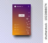 stories. streaming. live video... | Shutterstock .eps vector #1022888074