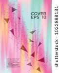 scientific cover page layout.... | Shutterstock .eps vector #1022888131