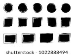 grunge post stamp set  circles. ... | Shutterstock .eps vector #1022888494
