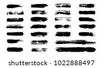 grunge paint brushes  added in... | Shutterstock .eps vector #1022888497
