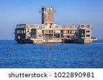 world war ii torpedo platform...   Shutterstock . vector #1022890981