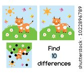 find the differences... | Shutterstock .eps vector #1022896789