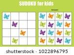 sudoku game for children with... | Shutterstock .eps vector #1022896795