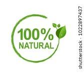 100  natural logo symbol... | Shutterstock .eps vector #1022897437
