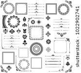 vintage set of vector... | Shutterstock .eps vector #1022902741