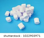 marshmallow pile set. top air... | Shutterstock . vector #1022903971