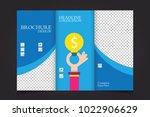 trifold business brochure... | Shutterstock .eps vector #1022906629