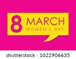march 8. international women's... | Shutterstock .eps vector #1022906635