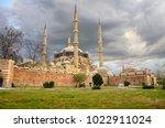 selimiye mosque in edirne ... | Shutterstock . vector #1022911024