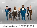 Main Page Business Design with Cartoon Character for Web Site | Shutterstock vector #1022911399