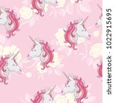 unicorn and rainbow seamless...   Shutterstock . vector #1022915695