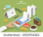 bills online payment flat... | Shutterstock .eps vector #1022916361