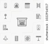 house climate line icon set | Shutterstock .eps vector #1022916517