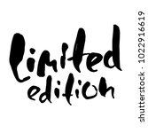 limited edition. ink... | Shutterstock .eps vector #1022916619
