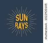 sun rays logotype. linear... | Shutterstock .eps vector #1022920105