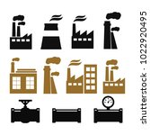 pipe fittings vector icons set. ... | Shutterstock .eps vector #1022920495