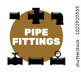 pipe fittings vector icons set. ... | Shutterstock .eps vector #1022920555