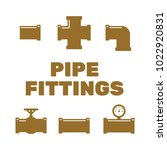 pipe fittings vector icons set. ... | Shutterstock .eps vector #1022920831