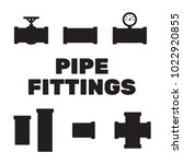 pipe fittings vector icons set. ... | Shutterstock .eps vector #1022920855