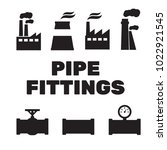 pipe fittings vector icons set. ... | Shutterstock .eps vector #1022921545