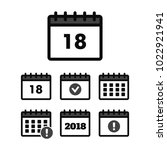 vector calendar icons. event... | Shutterstock .eps vector #1022921941