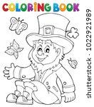 coloring book leprechaun 3  ... | Shutterstock .eps vector #1022921989